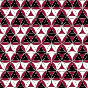 Triad Pattern Black-White-Red