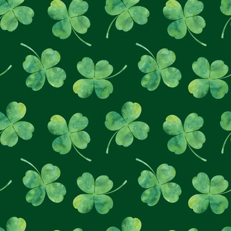 shamrock toss || watercolor green fabric by littlearrowdesign on Spoonflower - custom fabric