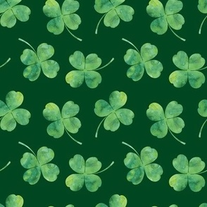 shamrock toss || watercolor green