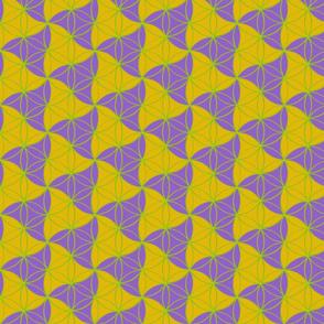 Trinity Pattern Purple Yellow