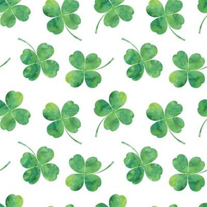 shamrock toss || watercolor white