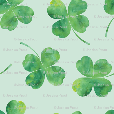 shamrock toss || watercolor mint