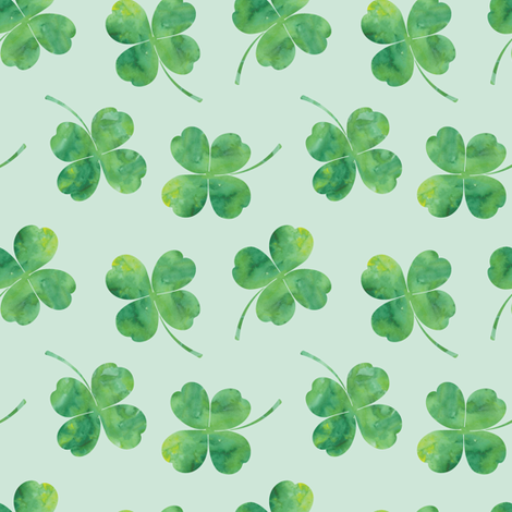 shamrock toss || watercolor mint fabric by littlearrowdesign on Spoonflower - custom fabric