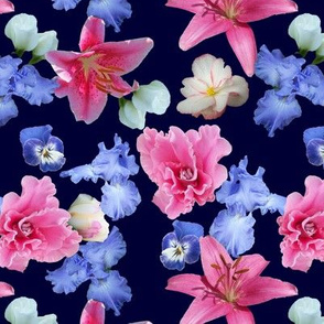 Pink_Blue_Flowers_Navy