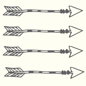 Tribal Arrows Grey on Ivory