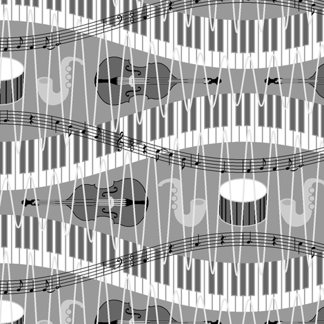 06040118 : shades of jazz music fabric by sef on Spoonflower - custom fabric