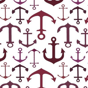 Red Anchors // Vertical // Nautical Collection