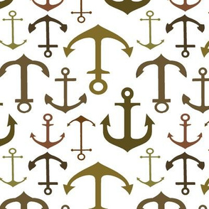Brown Anchors // Vertical // Nautical Collection