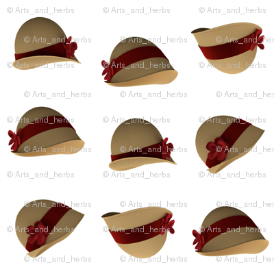 Cloche Hats (white background)