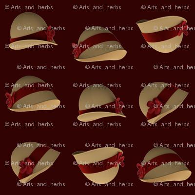 Cloche Hats (dark background)