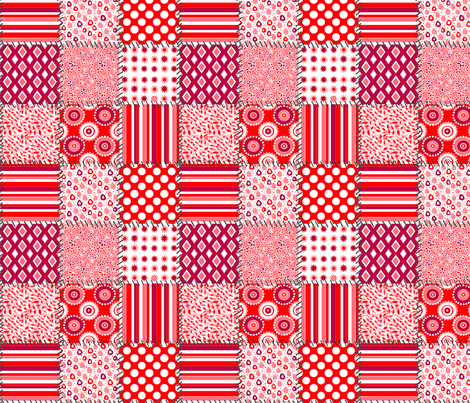 ltd_quilt_red_and_white_8x8 fabric by leroyj on Spoonflower - custom fabric