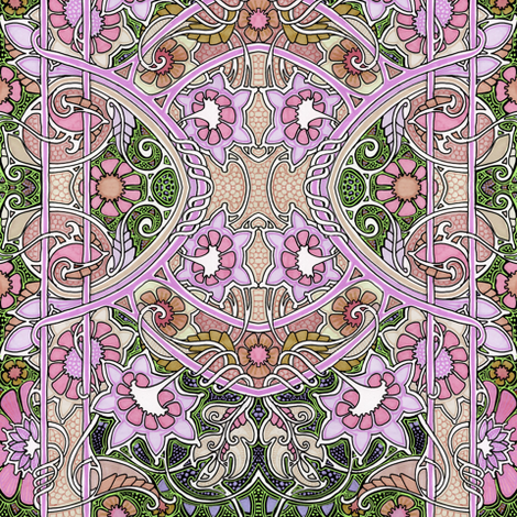 On a Dusty Pink Day fabric by edsel2084 on Spoonflower - custom fabric
