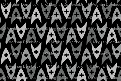 Star Trek TOS Medical Insignia - Greyscale