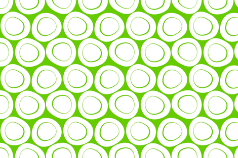 Bowled over - pea green fabric by moirarae on Spoonflower - custom fabric
