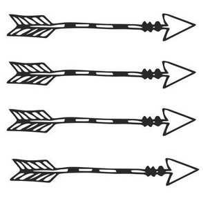 Tribal Arrows Black on White