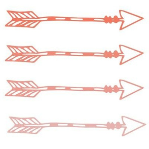 Tribal Arrows Coral Ombre