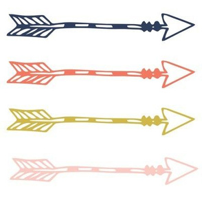 Tribal Arrows Girl Woodland - Navy Arrows - Coral Arrows - Gold Arrows - Blush Arrows