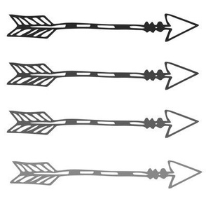 Tribal Arrows Monochrome - Grey Ombre Arrows