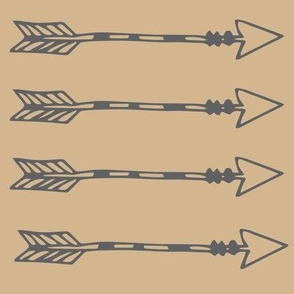 Tribal Arrows Grey On Tan