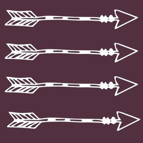 Tribal Arrows Eggplant Purple