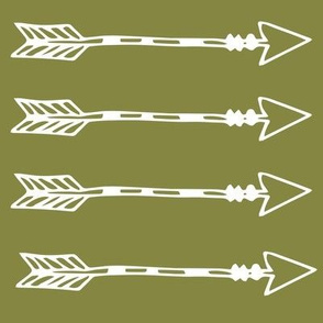 Tribal Arrows Olive green