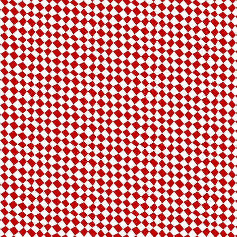 Chequered flags - tomato red fabric by moirarae on Spoonflower - custom fabric