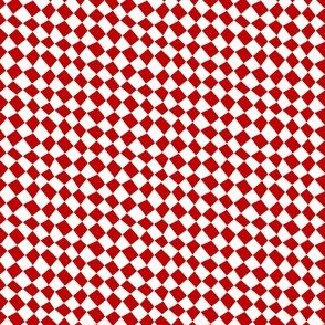 Chequered flags - tomato red