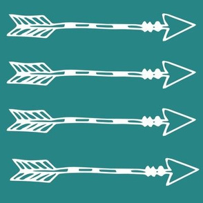 Tribal Arrows teal