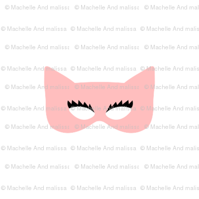 Girly Catwoman Masks in Pink