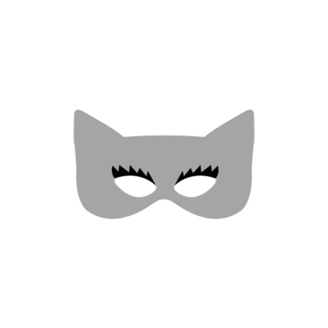 Girly Catwoman Mask in Gray fabric by ajoyfulriot on Spoonflower - custom fabric