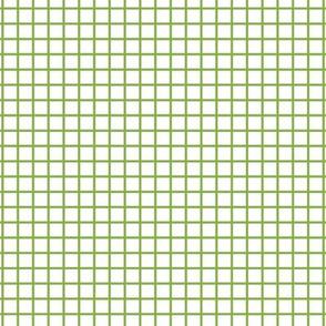 Small Grid - White/Greenery