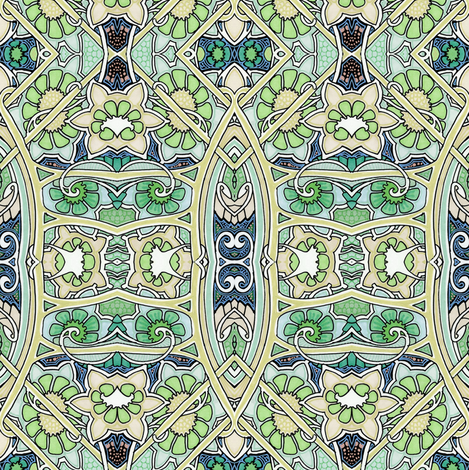 Music of the Minaret fabric by edsel2084 on Spoonflower - custom fabric