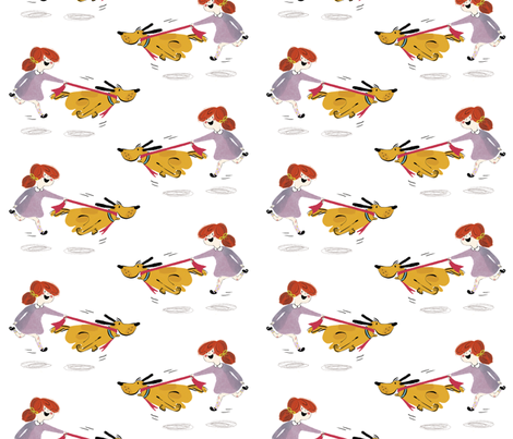 HugoandMilly fabric by mummysam on Spoonflower - custom fabric