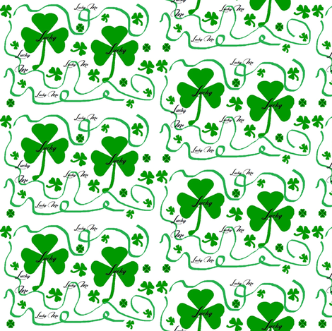 Lucky Me Clover fabric by necie_marie_designs on Spoonflower - custom fabric