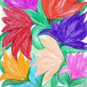 Floral Design_Oil Pastels