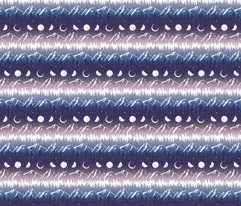 *Medium Scale* Chalet View Midnight Stripe fabric by byre_wilde on Spoonflower - custom fabric