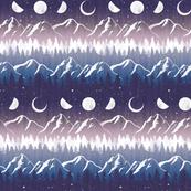 *Medium Scale* Chalet View Midnight Stripe