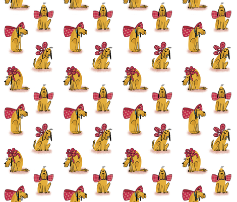 hugo and his colorful bows fabric by mummysam on Spoonflower - custom fabric