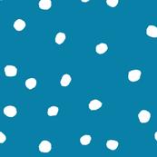 cottonball dots blue