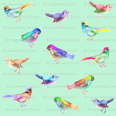 Songbirds LARGE Soft Mint