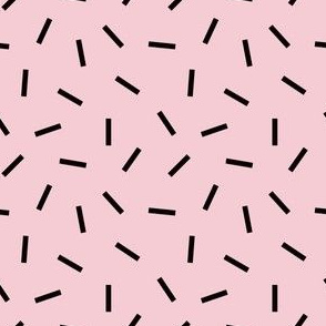 Postmodern Funfetti in Pink + Black