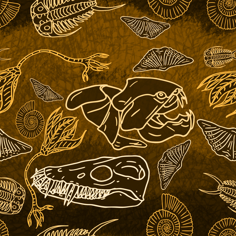 originalfossil11 fabric by craftyscientists on Spoonflower - custom fabric