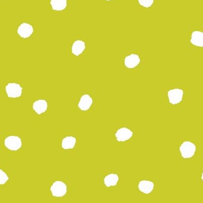 COTTON BALL DOTS Chartreuse