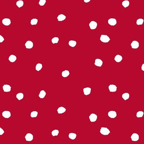 COTTON BALL DOTS Scarlet Red