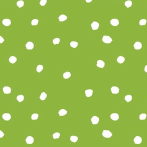 COTTON BALL DOTS Leaf Green