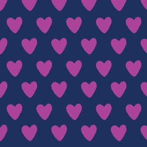 Navy and Purple hearts