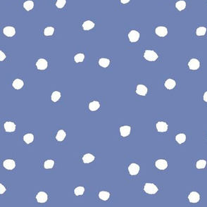 COTTON BALL DOTS French Blue