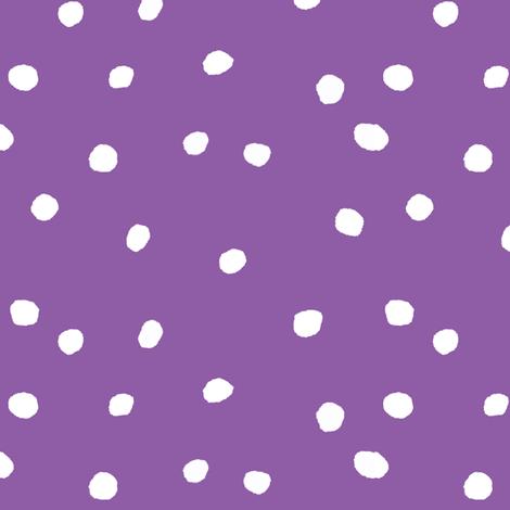 COTTON BALL DOTS Purple fabric by shi_designs on Spoonflower - custom fabric