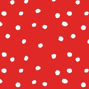 COTTON BALL DOTS Red