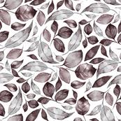 Watercolor leaves 4